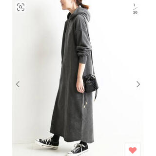 IENA SLOBE - 今期完売 新品タグ付 30/-ピグメント染め裏毛ワンピース