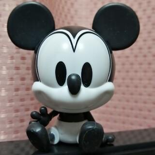 ミッキーマウス(ミッキーマウス)のディズニー カプキャラ ミッキー モノクロ フィギュア(キャラクターグッズ)