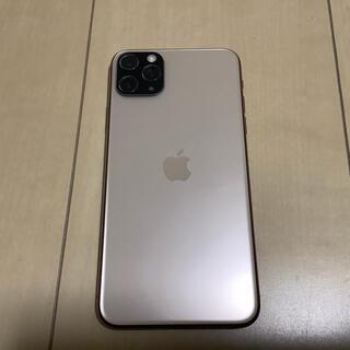 アイフォーン(iPhone)のiphone11 Pro Max 256GB 国内版SIMフリー ゴールド 美品(スマートフォン本体)