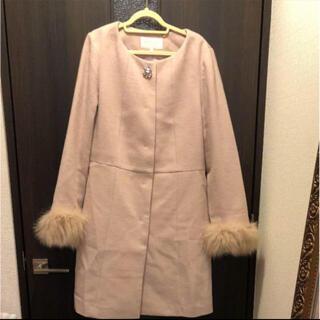 プロポーションボディドレッシング(PROPORTION BODY DRESSING)のフォックスファーノーカラーコート(ロングコート)