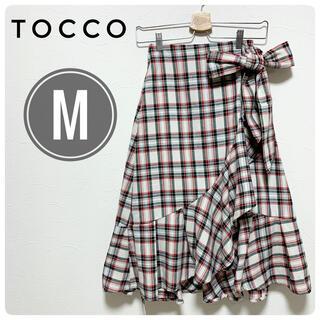 tocco - tocco ロング 巻きスカート ウエストリボン M タータンチェック