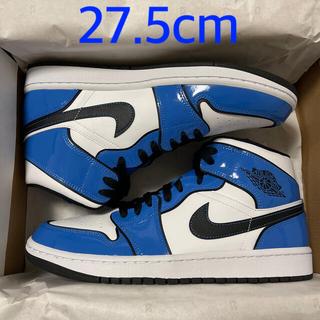 NIKE - 27.5cm NIKE AIR JORDAN1 MID  SIGNAL BLUE