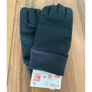 ユニクロ(UNIQLO)の新品未使用 ユニクロ 手袋 XLヒートテックライナー ファッショングローブ 黒(手袋)