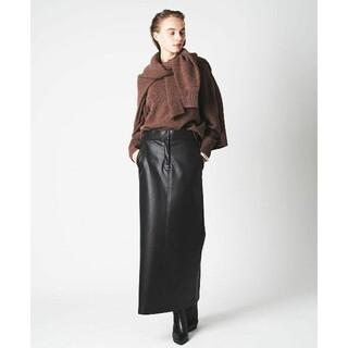 今期 美品 N.O.R.C(ノークNORC)Iラインエコレザースカート サイズ2