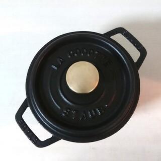 ストウブ(STAUB)のストウブ ココット ラウンド 14センチ 黒(鍋/フライパン)