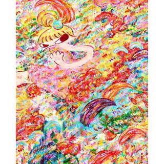 ロッカクアヤコ 展覧会ポスター 魔法の手 1000枚限定(その他)