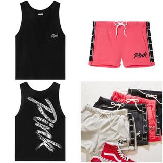 Victoria's Secret - 新品未使用  スパンコールタンクトップ&ボーイフレンド ショートパンツ♪