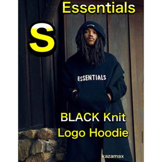 フィアオブゴッド(FEAR OF GOD)のFOG Essentials エッセンシャルズ ニット パーカー ブラック S(パーカー)