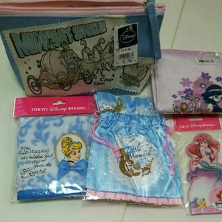 Disney - ディズニー ポーチ タオル ハンカチ プリンセス 巾着 メモ帳 アリエル