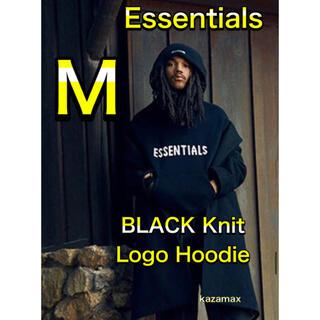 フィアオブゴッド(FEAR OF GOD)のFOG Essentials エッセンシャルズ ニット パーカー ブラック M(パーカー)