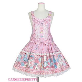 アンジェリックプリティー(Angelic Pretty)のangelic pretty  MELODY TOYS サロペット ピンク(サロペット/オーバーオール)