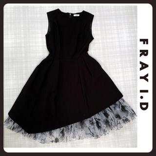 FRAY I.D - フレイアイディ FRAY I.D チュールワンピース 黒 ブラック
