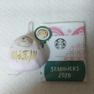 スターバックスコーヒー(Starbucks Coffee)のスターバックスク福袋 2021 べアリスタ ピンク&手ぬぐい(キャラクターグッズ)