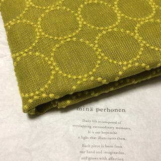 mina perhonen - ミナペルホネン タンバリン yellow/yellow 生地幅半分×50cm
