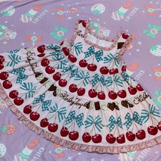 Shirley Temple - シャーリーテンプル チェリーチョコ ワンピース ジャンパースカート