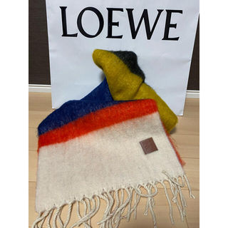 LOEWE - 美品/LOEWE/ロエベ#アナグラム/ロゴモヘヤストール/マフラー
