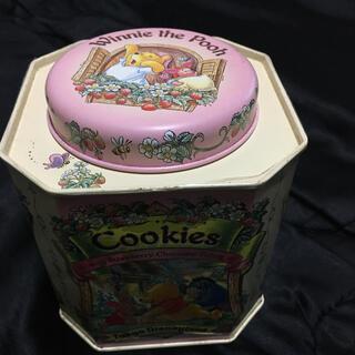 クマノプーサン(くまのプーさん)のディズニークッキー缶 プーさん(キャラクターグッズ)