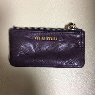 ミュウミュウ(miumiu)のmiumiu キーケース コインケース(キーケース)