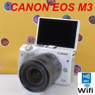 Canon - ★Wi-Fi&超高画質!自撮り リモート撮影♪★CANON EOS M3