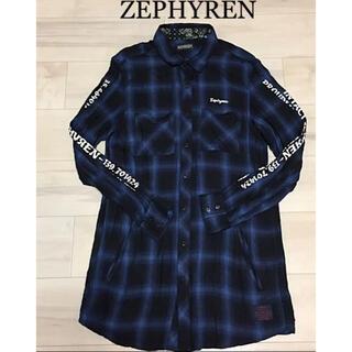 ZEPHYREN ゼファレン ロングシャツ チェックシャツ 19SS(シャツ)