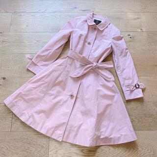 トッカ(TOCCA)の新品 トッカ トレンチコート コート ピンク リボン付き サイズ0(トレンチコート)