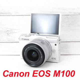 Canon - ❤️人気ホワイト❤️Wi-Fi&自撮り❤️Canon EOS M100