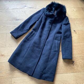 エニィスィス(anySiS)の新品 anySIS コート ロングコート フォーマル 黒 サイズ2(毛皮/ファーコート)