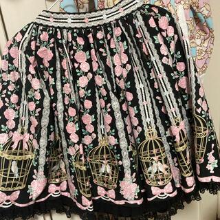アンジェリックプリティー(Angelic Pretty)のAngelic Pretty*小鳥たちのシンフォニアスカート(ひざ丈スカート)