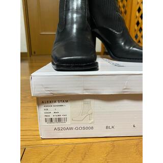 アリシアスタン(ALEXIA STAM)のSquare Toe Short Boots Black(ブーツ)