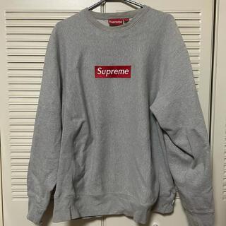 Supreme - supreme ボックスロゴ クルー Lサイズ