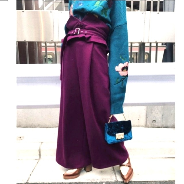 Ameri VINTAGE(アメリヴィンテージ)のAmeri【新品】べルト付♥DOCKING BELT PANTS レディースのパンツ(カジュアルパンツ)の商品写真