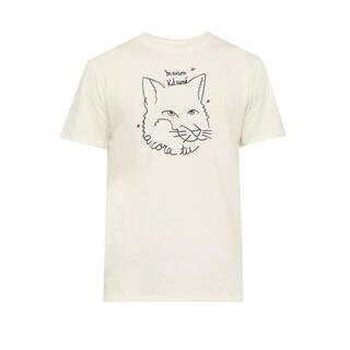 MAISON KITSUNE' - メゾンキツネ ANCORA Tシャツ ホワイト Lサイズ 着用回数2.3回美品
