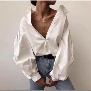 eimy istoire - 新品👜デザイナーファッションオフショルダー硬めシャツ