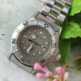 セイコー(SEIKO)のSEIKO セイコー 時計 グレー QZ レディース ブランド 腕時計(腕時計)