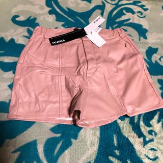 ムルーア(MURUA)の定価 6300円 MURUA フェイクレザーショートパンツ ピンク(ショートパンツ)