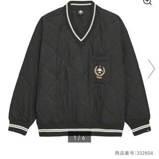 ジーユー(GU)のGU kappa コラボ ブラック プルオーバーシャツ(その他)