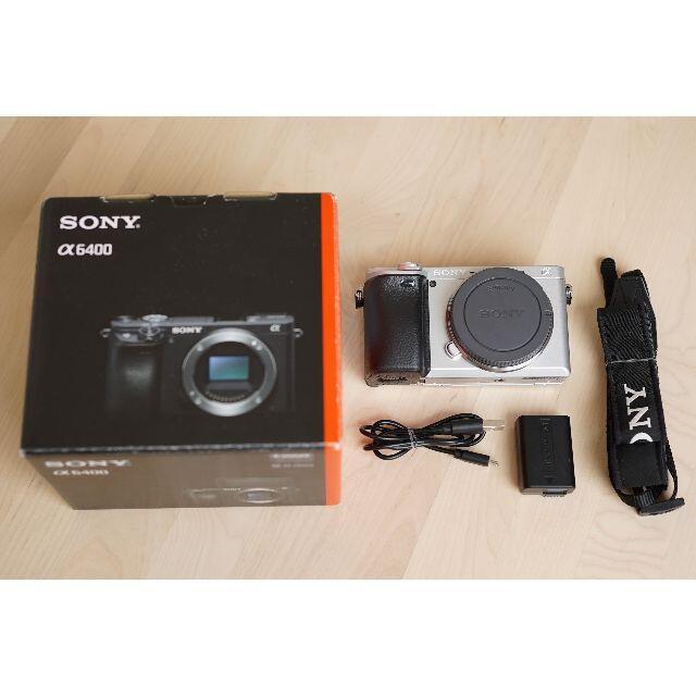 SONY(ソニー)のSony a6400 シルバー ソニー 一眼レフ スマホ/家電/カメラのカメラ(ミラーレス一眼)の商品写真