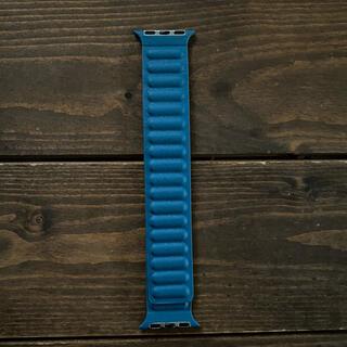 アップルウォッチ(Apple Watch)のApple Watch ブルー フェイクレザー バンド(レザーベルト)