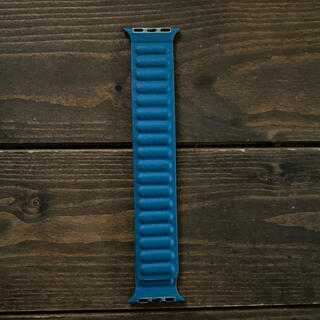 Apple Watch - Apple Watch ブルー フェイクレザー バンド