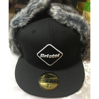 エフシーアールビー(F.C.R.B.)のL 59.6cm fcrb ニューエラ 耳当て付きキャップ 帽子 cap 新品(キャップ)