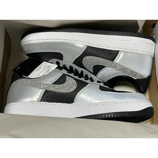 NIKE - NIKE AIR FORCE 1 SILVER SNAKE 黒蛇 27.5cm