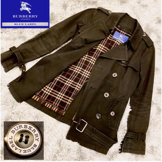 BURBERRY BLUE LABEL - 【Burberry blue label】トレンチコート ジャケット 黒 40