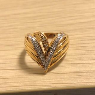 リング 指輪 ダイヤ K18 PT900