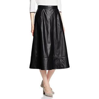 ロイヤルパーティー(ROYAL PARTY)のフェイクレザースカート(ひざ丈スカート)