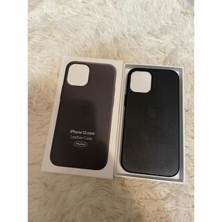 Apple - MagSafe対応iPhone 12 miniレザーケース - ブラック