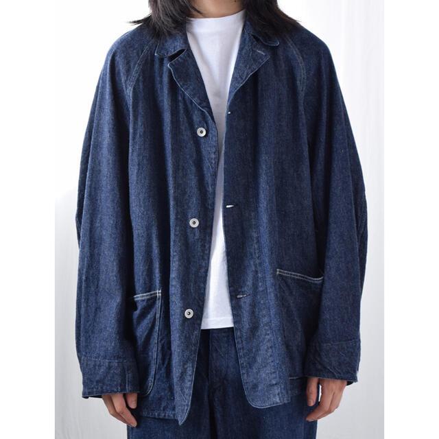 COMOLI(コモリ)のcomoli コモリサイズ3  21SS デニムワークジャケット カバーオール メンズのジャケット/アウター(Gジャン/デニムジャケット)の商品写真