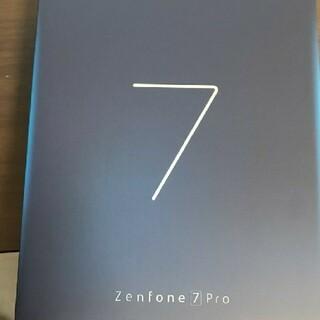 エイスース(ASUS)のZenfone 7 Pro ZS671KS-BK256S8  新品未開封品(スマートフォン本体)