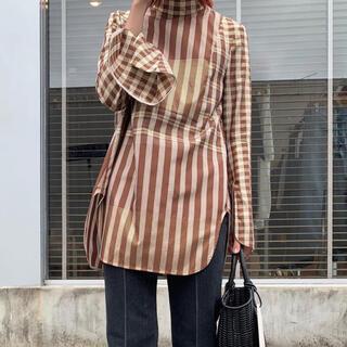 mame - mame kurogouchi  ribbon tie shirt