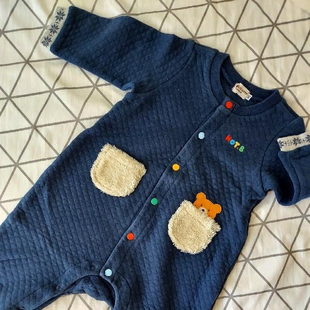 HOT BISCUITS(ホットビスケッツ)のMIKI HOUSE ロンパース 80センチ キッズ/ベビー/マタニティのベビー服(~85cm)(ロンパース)の商品写真