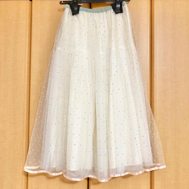 franche lippee(フランシュリッペ)のfranchelippee  ドットチュールスカート ドットスカート レディースのスカート(ロングスカート)の商品写真